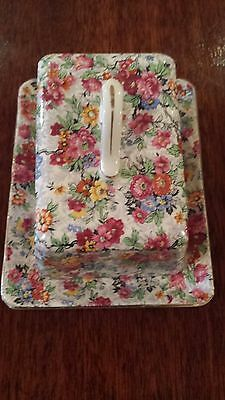Lord Nelson Chintz Marina Covered Cheese Dish 1930's Nice Condition!