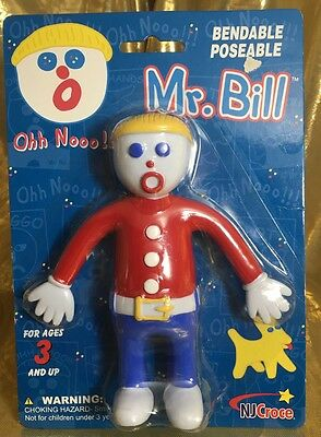 New Sealed Saturday Night Live Snl Bendable Mr. Bill Toy Doll Tv Character