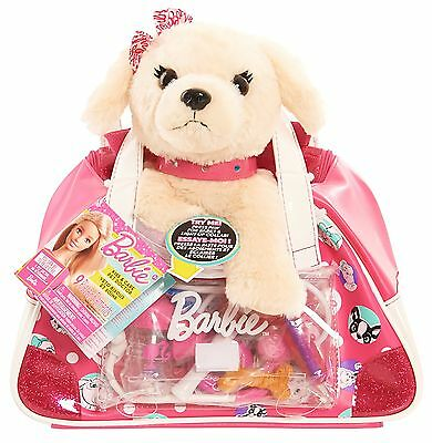 Just Play Barbie Kiss And Care Pet Doctor Set Puppy Toy, Light Brown