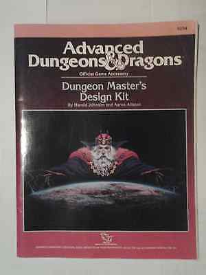 Vintage Official AD&D Dungeons & Dragons Dungeon Masters Design Kit TSR Game Aid