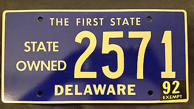 1992 Delaware State Owned 2571 License Plate