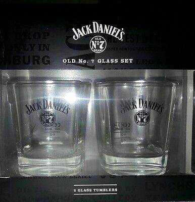JACK DANIELS OLD No. 7 GLASS SET - Fathers Day Gift