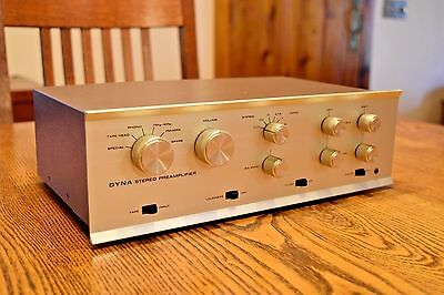 Dynaco PAS 3X Stereo TUBE Preamp w/phono! Nice with new tubes EH 12AX7s Dyna #7