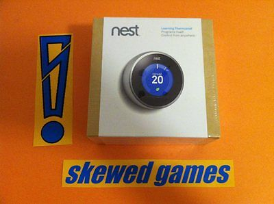 NEST Learning Thermostat 2nd Second Generation T200477 Brand NEW Factory SEALED
