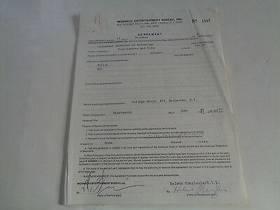 The Police And Xtc Rochester Ny Jan 19 1979 Original Concert Contract & Papers