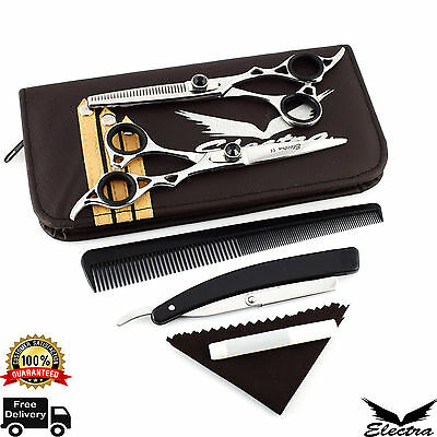 """6.5"""" Professional Salon Hairdressing Hair Cutting Thinning Barber Scissors+Case"""