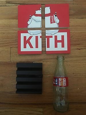 NEW KITH x COCA-COLA CERAMIC COASTER SET WITH KITH EMPTY COCA COLA BOTTLE