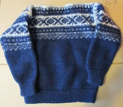 "Marius Sportsmodes Norwegian All Wool Sweater 34"" Chest"