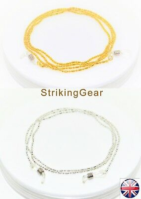 Glasses Retainer Cord Necklace Strap -- light Metal Chain Design *2 Colours* UK