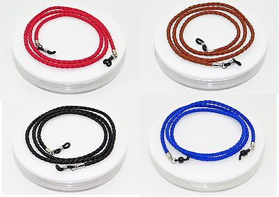 Glasses Retainer Cord Necklace Strap Thick Linked Leather Design 4 Colours SG-UK