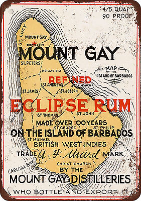 "7"" x 10"" Metal Sign - 1937 Mount Gay Eclipse Rum - Vintage Look Reproduction"