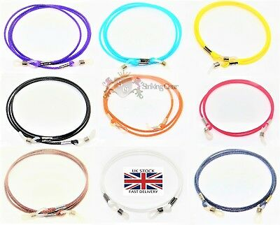 Glasses Retainer Cord Chain Necklace Strap - Light Leather String *9 Colours* UK