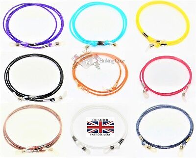 Glasses Retainer Cord Necklace Strap Light Leather Design 9 Colours - SG-UK