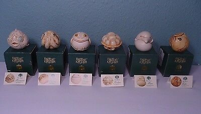 6 Harmony Kingdom Roly Poly SEA CREATURES~New In Box w/ COA~Ocean Critters Lot