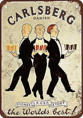 "7"" x 10"" Metal Sign - 1920 Carlsberg Beer - Vintage Look Reproduction"