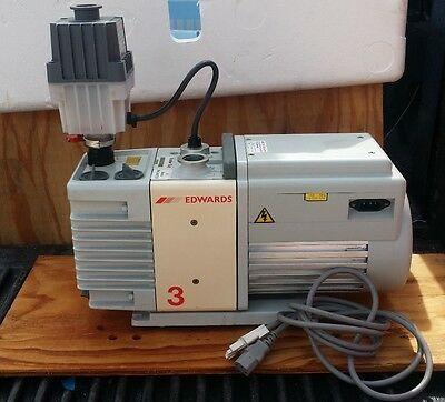 Edwards RV3 A652-01-906 high vacuum Rotary Vane Pump with Oil Mist Filter EMF10