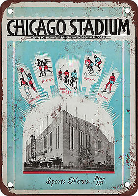 "7"" x 10"" Metal Sign - 1931 Chicago Stadium - Vintage Look Reproduction"