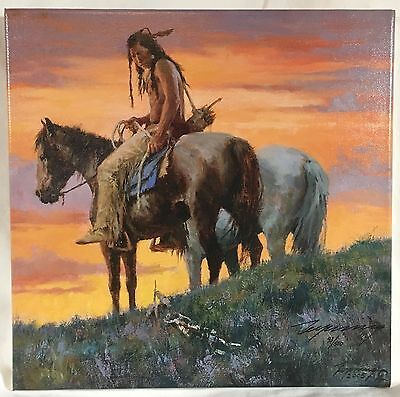 Howard Terpning, SIGN ALONG THE TRAIL, Giclee Canvas