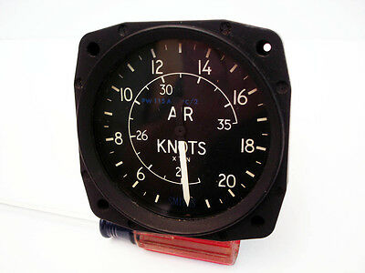 Smiths Simple Airspeed Indicator 200 Knots, PW115A PC2, Aircraft Instrument