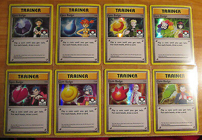 COMPLETE Pokemon GYM BADGE Card Black Star PROMO Set Holo LEAGUE XY203-XY210 TCG