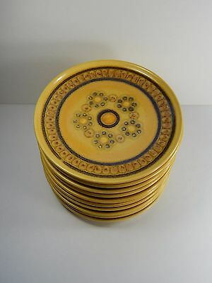 10 Franciscan Honeycomb Side Plates. Mid-Century England Harvest Gold. 6 1/4""