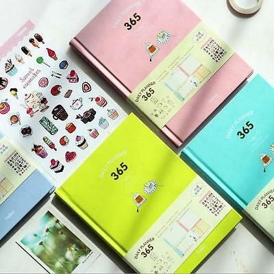 """""""Candy 365"""" 1pc Cute Hard Cover Weekly Monthly Planner Notebook Journal Freenote"""
