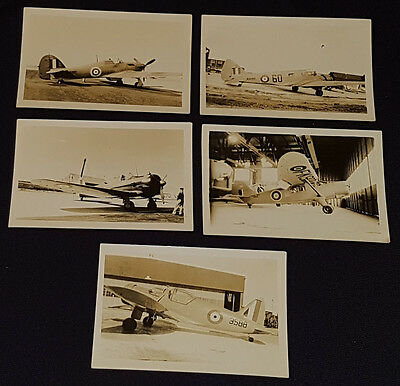 1930/40's - VINTAGE - MILITARY - AIRPLANES - PHOTOS - (5) - ORIGINAL