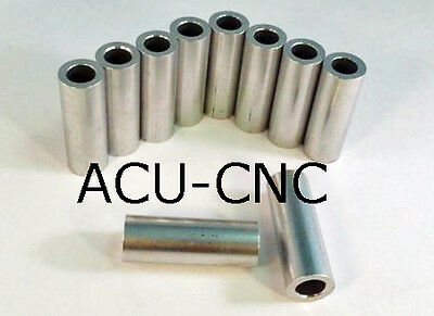 """Aluminum Bolt Spacers, 10 pack - 5/8 OD X 3/8 ID X 1 3/4"""" long Made In CANADA"""