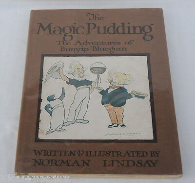 The Magic Pudding NORMAN LINDSAY 1st EDITION 1918 HC DUSTJACKET Very Fine RARE