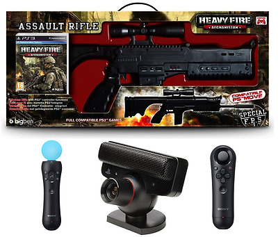Ps3 - Heavy Fire Bundle : Gioco + Fucile + Ps Move + Ps Navigation + Ps Eye - It