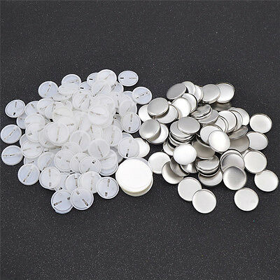 100Pcs Blank DIY Badge Pin for Letter Picture Printing Craft Bag Accessories
