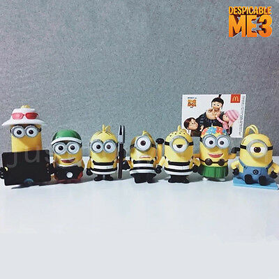 2017 Despicable Me 3 Minions McDonalds Toys Full Set 7 PCS In Box Gifts Promo