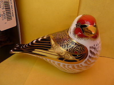 """Royal Crown Derby Paperweight """"GOLDFINCH"""" 1st Quality  Brand New In Original Box"""