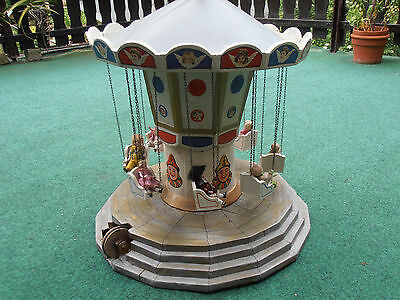 antique vintage children carousel with 8 dolls dollhouse karussell 1910 Germany