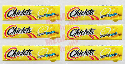 Chiclets stick Lemon Freeze Chewing Gum 6 packs