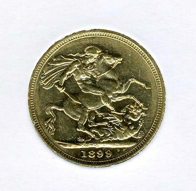 1899 S Australian Gold Sovereign  FREE postage in Australia