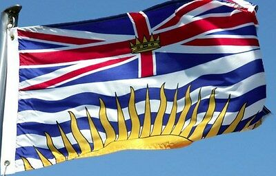 NEW 3x5 ft BRITISH COLUMBIA CANADA CANADIAN FLAG
