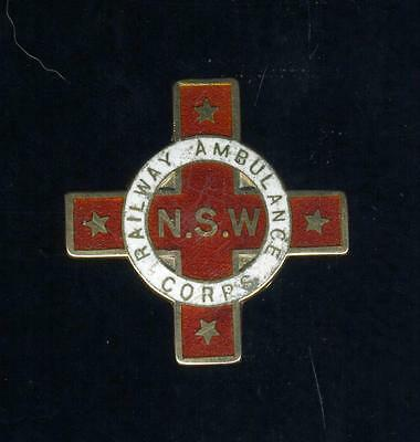 1936 Railways Ambulance Corp 9ct Gold Enamelled Efficient Medal