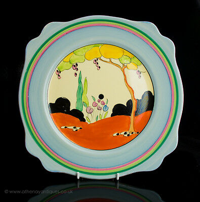Clarice Cliff Bizarre Tulips Pattern Plate c1934-35