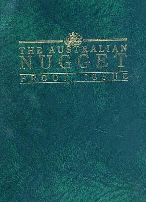 1989 Australian 1/20 oz Gold Nugget Proof in Green Wallet with Certificate