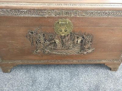 Wooden Carved Chinese Chest