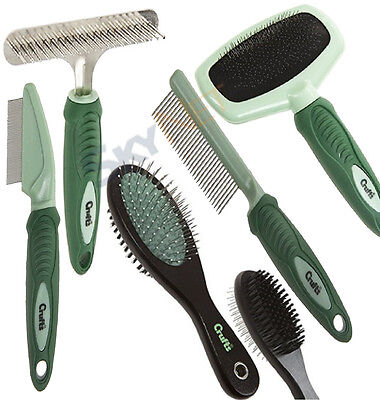 Crufts Dog Puppy Pet Hair Shedding Grooming Trimmer Brush Comb Rake Tool New