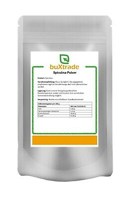 1 kg Spirulina Pulver Powder 100% rein Futter Superfoods Alge Smoothie