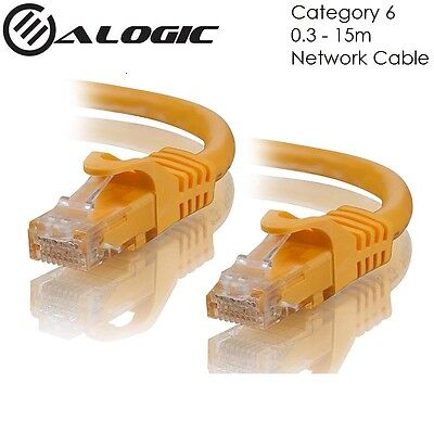 ALOGIC CAT6 Network Cable Yellow C6-XX-Yellow Lifetime Warranty from 0.3m to 15m