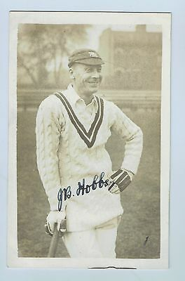 J B Hobbs Signed Real Picture Postcard