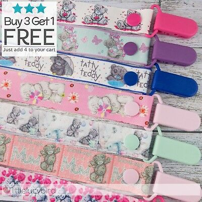 Tatty Teddy Dummy Clip - Pacifier Clips - Soother Chain - Baby Gift (DC100234-7)