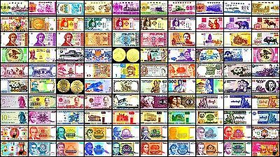 Lot 100 World Banknotes, Paper Money, HYPERINFLATION + other notes, Currency
