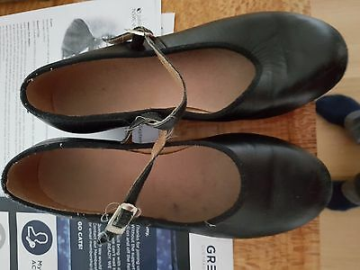 Bloch, Girls Black Leather Tap Shoes, Size 5.5