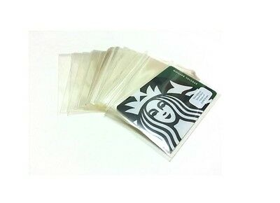 100 x Plastic Sleeves for Starbucks Collectible Cards  ***NO Card Included**