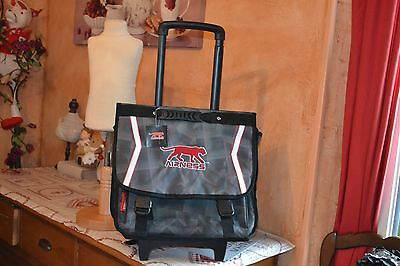 cartable neuf airness la pantere grand modele 40 h 70  avec tirette mondial poss